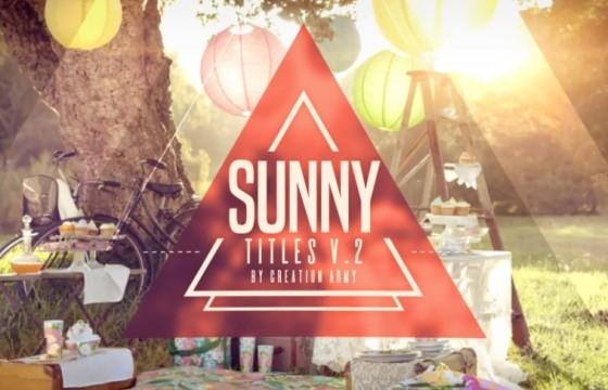 AE模板 时尚动感光效转场文字标题字幕条 Sunny Titles v2