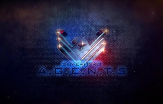 AE模板-超级英雄LOGO标志动画展示 Superhero Agents Logo