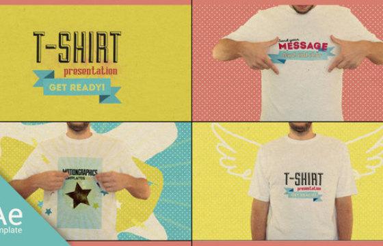 AE模板 夏季人物T恤衫广告动画展示 T Shirt Opener