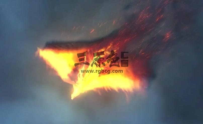 AE模板:浴火凤凰LOGO动画显示片头 The Pheonix Fire Reveal Ae 模板-第1张