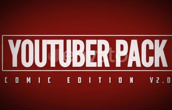 Pr基本图形模板 手绘涂鸦漫画动画元素 The YouTuber Pack