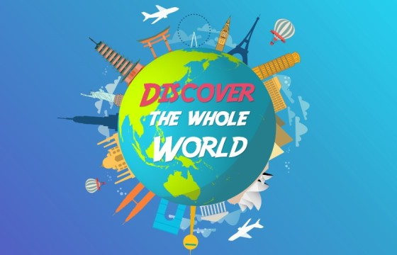 AE模板 世界旅游LOGO标志动画片头 Travel Logo Animation