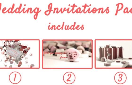 AE模板-创意浪漫婚礼邀请请柬卡片 Wedding Invitations Pack
