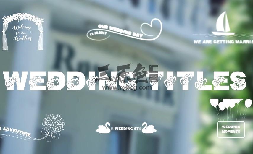 AE模板 创意浪漫婚庆婚礼字幕条标题动画 Wedding Titles Ae 模板-第1张