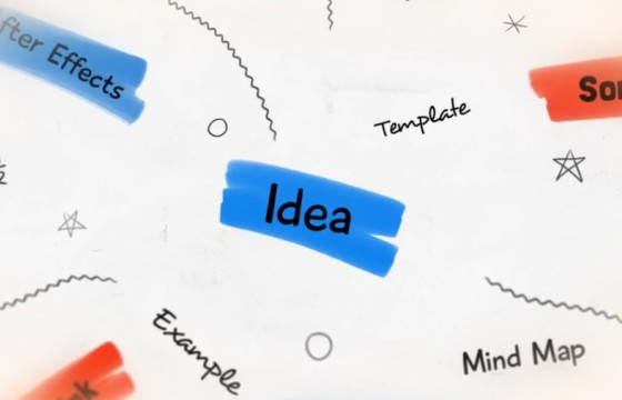 AE模板 卡通动画元素指示介绍说明 Whiteboard Brainstorm