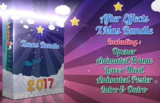 AE模板 圣诞节新年春节元素动画包 New Years Animation Pack v2