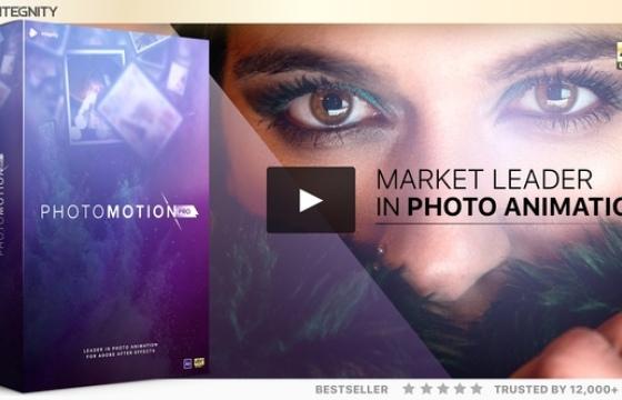 AE模板 照片转三维相机动画模板 Photo Motion – 3D Photo Animator