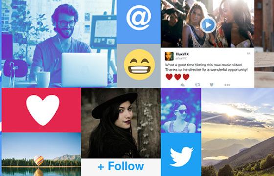 AE模板 社交媒体表情包动画展示 Social Media Showcase