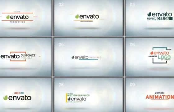 AE模板 110个LOGO字幕条文字标题排版动画 Logo Pack