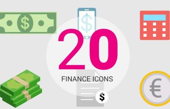 AE预设 20个信息图表财务图标动画Ffx预设 Finance Icons