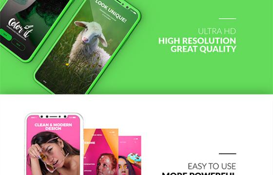 AE模板 iphone x 三维手机APP程序界面功能演示介绍 3D Smartphone