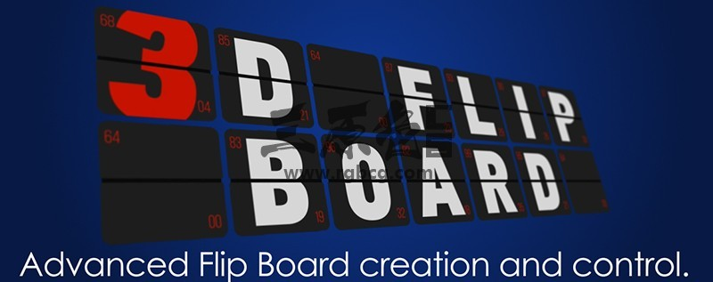 AE脚本 卡片翻转文字转动过渡制作脚本 Aescripts 3D Flip Board v1.15 脚本/预设-第1张