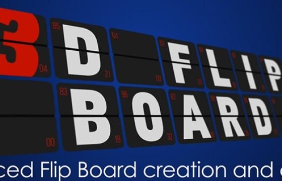 AE脚本 卡片翻转文字转动过渡制作脚本 Aescripts 3D Flip Board v1.15