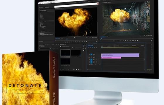 50多个4K爆炸起火烟雾火焰高清视频素材 50+ Explosion