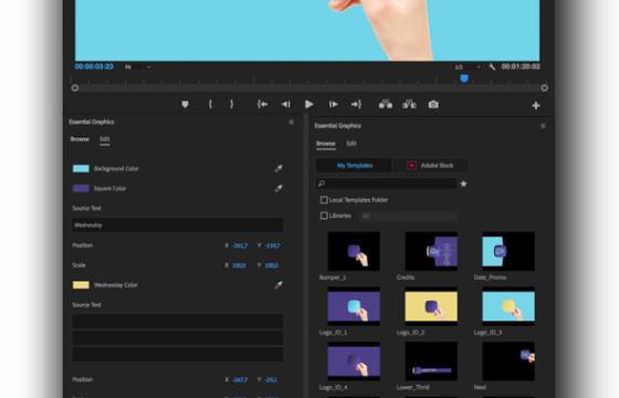 Pr模板 Mogrt基本图形动画预设模板 Broadcast Hand Package