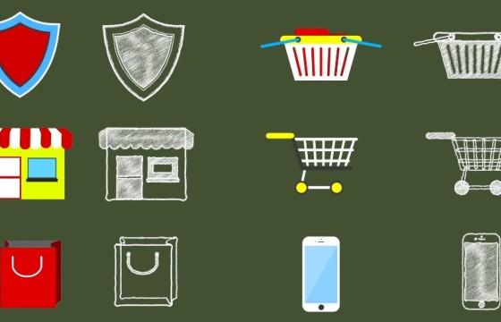 AE模板 各行业ICO卡通素描图标动画 Business Icons