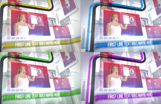AE模板 企业历程发展字幕条栏目包装片头 Clean Corporate Broadcast