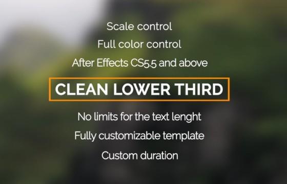 AE模板 创意扁平化文本标题字幕条动画排版 Clean Lower Third