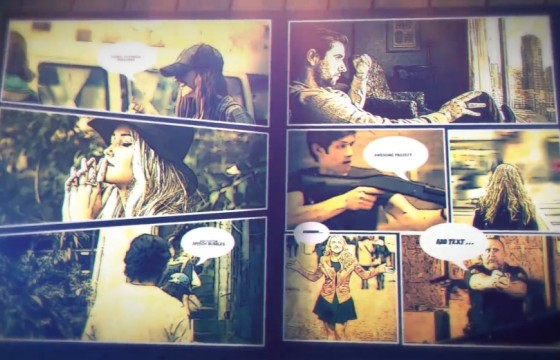 AE模板 漫画书翻页视频画面静帧定格 Comic Book Promo