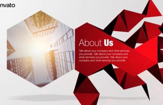 AE模板 企业公司多边形图形动画介绍演示 Corporate Polygon Presentation