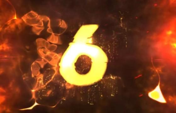 AE模板 火焰辉光描边特效数字倒计时开场模板 Countdown