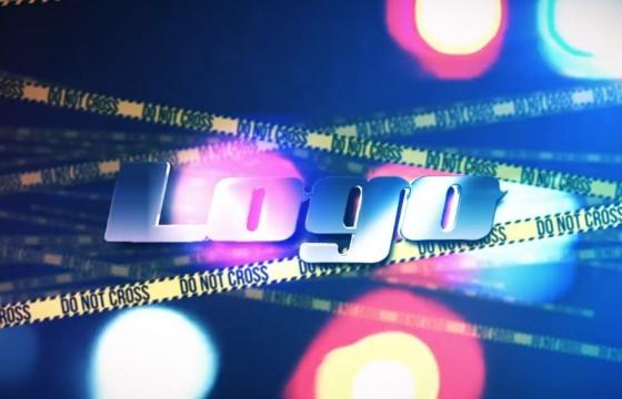 AE模板 警戒线LOGO标志动画展示片头 Crime Scene Logo Reveal