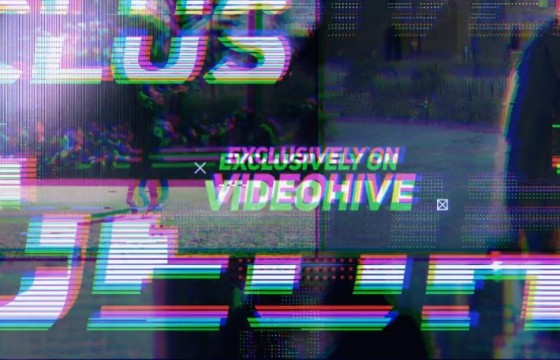 AE模板 动态画面失真损坏效果幻灯片 VideoHive Dynamic Glitch