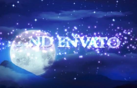 AE模板 冬天寒夜雪景文字相册视频图文展示 Fantasia
