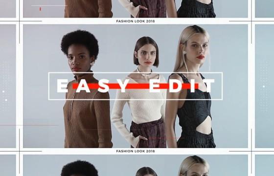 AE模板 动感时尚模特街拍视频排版展示 Fashion Opener