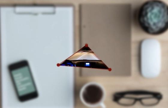 AE模板 平面三角形动画LOGO展示片头 Flat Abstract Logo