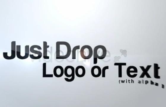 AE模板 三维文字标志破碎LOGO汇聚显示动画 Flying Logo