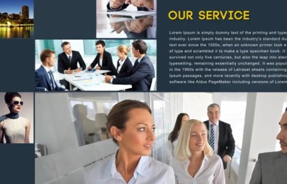 AE模板 公司企业商业演讲人事介绍展示 Global Business Presentation