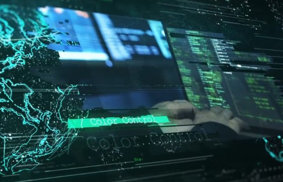 AE模板 全球大数据网络安全宣传幻灯片 Global Network Slideshow