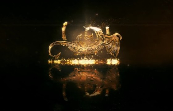 AE模板 金色质感粒子LOGO显示特效片头 Hot And Gold Logo