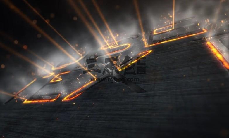 AE模板 特效工业激光描边文字LOGO显示 Industrial Laser Reveal Ae 模板-第1张