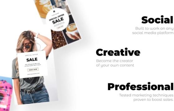 AE模板 竖屏动态图文广告宣传海报模板 Instagram Stories