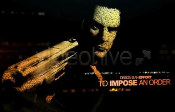 AE模板 全息图特效 电影杀手人物介绍 VideoHive Motion Killer