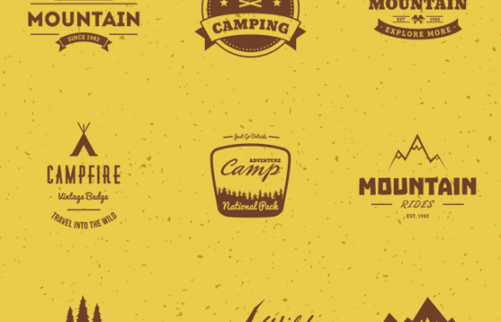 AE模板 爬山旅行和篝火创意图形字幕条动画 Mountain Travel