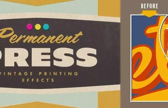 PS插件滤镜 复古印刷调试制作 Mister Retro Permanent Press v2.0