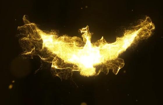 Pr模板 飞天凤凰粒子幻化LOGO标志展示 Phoenix Reveal Premiere Pro