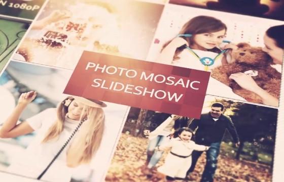AE模板-创意马赛克照片幻灯片 Photo Mosaic Slideshow
