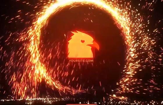 AE模板 粒子火花圆环LOGO标志特效片头 VideoHive Portal Logo