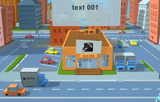 AE模板 卡通城市商店便利店LOGO动画展示片头 Videohive Shop