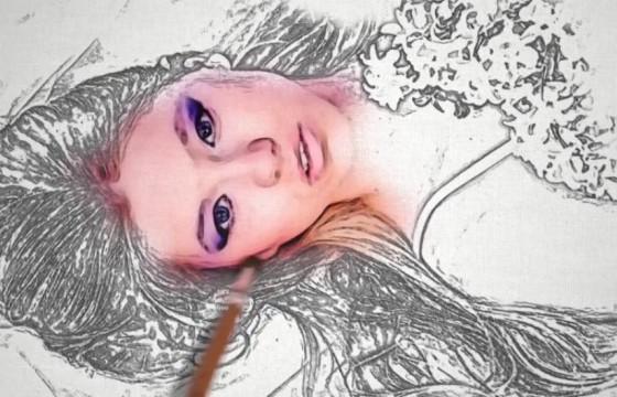 AE模板-黑白铅笔素描油漆上色动画 Sketch and Paint