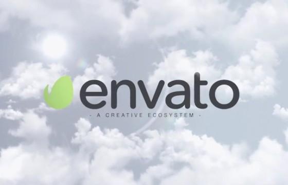 AE模板 天空白云LOGO显示片头 VideoHive Sky Logo Intro