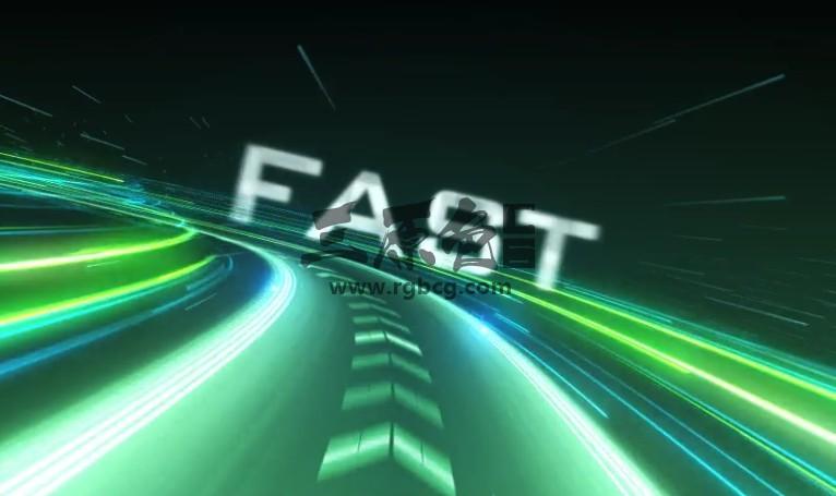 AE模板 文本标题公路超速动画LOGO显示 Speed Logo Intro Ae 模板-第1张