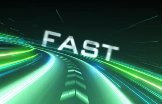 AE模板 文本标题公路超速动画LOGO显示 Speed Logo Intro