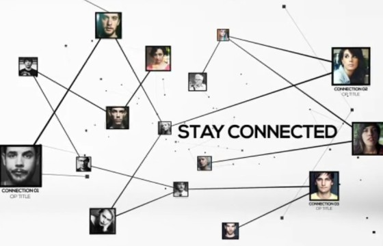 AE模板 人物关系动态联系分布连线图 VideoHive Stay Connected