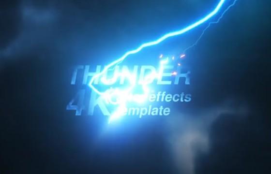 AE模板 雷电电影预告片头 文字标题开场 Videohive Thunder 4k