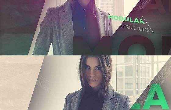 AE模板 时尚模特图文排版预告片促销 Trailer Promo